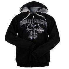 Harley-Davidson Men's Zip Up Skull Hoodie R000315*