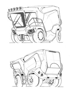 truck, bao chenda on ArtStation at https://www.artstation.com/artwork/VLwK5