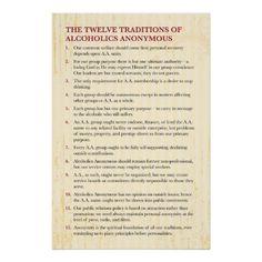 Aa twelve traditions relationships dating