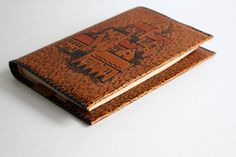 Vintage Leather Book Covers, Unused, Embossed Soviet Notebook or Diary Covers, Brown, Genuine Tooled Leather Souvenir, USSR on 1980s by LittleRetronome