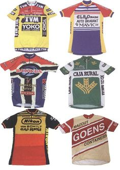 Cycling Jerseys-Full on adverts Vintage Pu. d3e542404