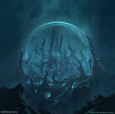 Aboleth City by SpiralMagus Fantasy City, Fantasy Kunst, Fantasy Places, Fantasy Map, Dark Fantasy Art, Fantasy World, Fantasy Art Landscapes, Fantasy Landscape, Landscape Art