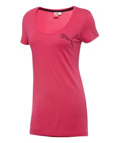 Take a look at this Virtual Pink Animal Logo Scoop Neck Tee by PUMA on #zulily today!