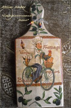 Wooden Projects, Art Projects, Decoupage Art, Decoupage Ideas, Framed Burlap, Ideas Prácticas, Diy Cutting Board, Easy Paintings, Diy Crafts To Sell