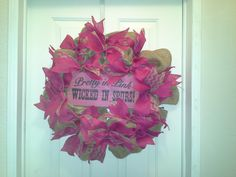 Burlap wreath MADE BY LW