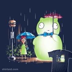"Bob's Burgers T-Shirt by Nathan Davis aka Obvian. ""My Neighbor Kuchi Kopi"" is a mashup of My Neighbor Totoro and Bob's Burgers. Bobs Burgers Funny, Bobs Burgers Quotes, Bobs Burgers Wallpaper, Chibi, Pop Art, Tina Belcher, Bob S, My Neighbor Totoro, My Spirit Animal"