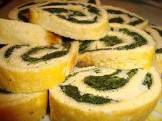 rotolo di frittata con spinaci