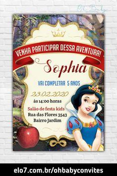 Snow White Birthday, Frozen, Baseball Cards, Party, Ideas Party, Spiderman Birthday Invitations, Snow White Art, Sewing Machine Drawing, Snow White Parties