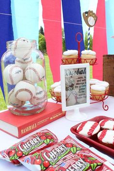 's Birthday / Baseball barbie - Photo Gallery at Catch My Party Barbie Birthday Party, Baseball Birthday Party, Basketball Party, Sports Party, Boy Birthday Parties, Baby Shower Parties, 5th Birthday, Baby Boy Shower, Baby Showers
