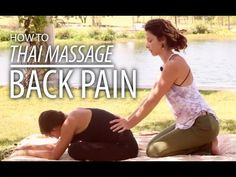 Thai Massage - Back & Neck Stretch & Massage, Seated Thai Massage