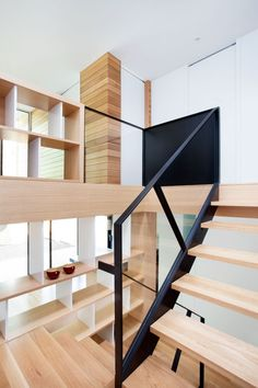 stairs design is quite nice! Chambord Residence / NatureHumaine
