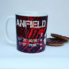New mug design featuring the map coordinates for Liverpool FC stadium,  Anfield. just listed..