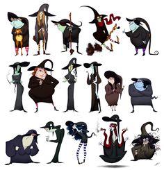WITCHES SKETCHES Pleins pleins de sorcières!Croquis+Photoshop. All Artwork Copyright Olivier SILVEN.