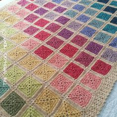 The Patchwork Heart: The Batik Rainbow Blanket
