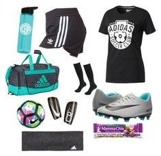 """""""Soccer practice ⚽️"""" by pottergirlmolly on Polyvore featuring adidas and NIKE"""