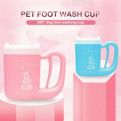 The soft brush does not let the dog feel pain and it cleans the paws gently. Dog Grooming Tools, Dog Grooming Clippers, Foot Wash, Cat Skin, Dog Cleaning, Pet Paws, Dog Supplies, Pink Blue