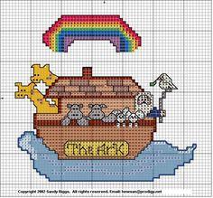 Noah's Ark Cross Stitch Pattern #crossstitch #freepattern