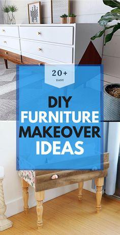 Best DIY Furniture Makeover Ideas Cheap Furniture Makeover, Diy Furniture Easy, Entryway Tables, Easy Diy, Recycling, Creative, Room, Ideas, Home Decor