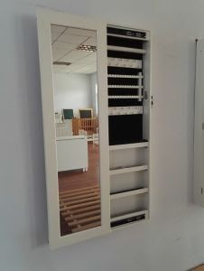 Enchanting Wall Mounted Full Length Mirror Jewelry Armoire with regard to size 736 X 1420 Full Body Wall Mounted Mirror - On the lookout for the ideal ligh Bathroom Medicine Cabinet Mirror, Mirror Jewellery Cabinet, Mirror Cabinets, Jewelry Mirror, Medicine Cabinets, Jewelry Rack, Hanging Jewelry, Jewelry Storage, Jewelry Armoire