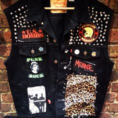 Punk vest - this is what i love and love to do with my boring but useful clothes, the next project is winter parka :D