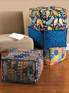 Super comfy cube blocks are great for extra seating or a convenient foot rest! :)