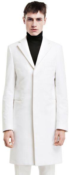 Garret moleskin white coat #AcneStudios #menswear #FW14 #FallWinter2014