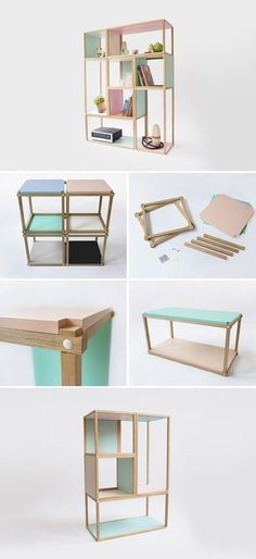 Stacks shelving furniture - multi function all stackable shelving - open… - Google Search