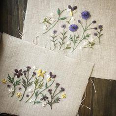 小さな花たちを待つ 雨降りの木曜日 #刺しゅう #刺繍 #sakka展 #assemblage #アッサンブラージュ