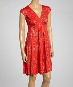 Look what I found on #zulily! Americana Gia Surplice Dress #zulilyfinds