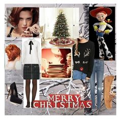 """Christmas!!"" by keep-calm-and-fandom-on ❤ liked on Polyvore featuring Ballard Designs, rag & bone, Wolford, UGG Australia, Madewell, A.P.C., Carvela Kurt Geiger and Dot & Bo"