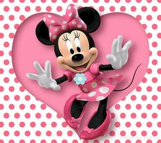 White Minnie Mouse Backdrop Polka Dot Sweet Heart Photography Background Pink Happy Birthday for Girls No Wrinkle Photo Studio Prop Mickey Mouse E Amigos, Mickey E Minnie Mouse, Pink Minnie, Mickey Mouse And Friends, Disney Mickey, Walt Disney, Minnie Mouse Background, Wallpaper Do Mickey Mouse, Disney Wallpaper