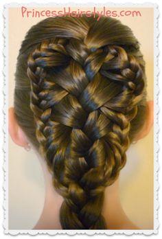 Gorgeous braided hairstyle, stingray ruffled braid