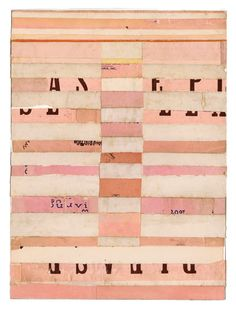 'A Perfect Fit' (2009) by artist Lisa Hochstein. Collage, salvaged paper. 9 x 12 in. via the artist's site