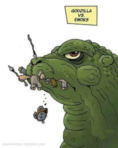 Ewoks vs godzilla