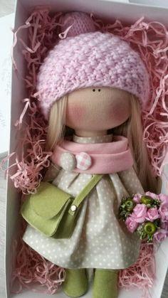 Куклы ручной работы от Ирины Строминовой Pretty Dolls, Cute Dolls, Beautiful Dolls, Doll Toys, Baby Dolls, Fabric Toys, Sewing Dolls, Doll Tutorial, Waldorf Dolls