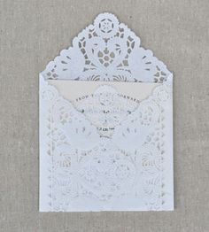 Lace invitations, reminds me of my grandmother.  I love it!