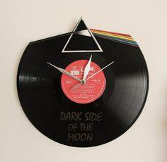 Wall clock Pink Floyd Vinyl clock by artwoodstock on Etsy