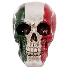 Click that link to learn more about Gruesome Italian Flag Skull Ornament by weeabootique!