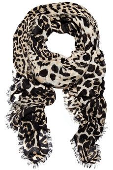 Yves Saint Laurent Leopard-print wool and cashmere-blend scarf | NET-A-PORTER