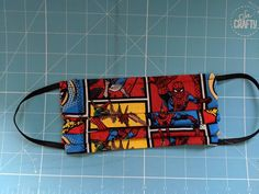 Spiderman cotton face mask by ButtonThisOccasion on Etsy Tissue Paper, Spiderman, Sewing Projects, Layers, Handmade Items, Face, Fabric, Cotton, Etsy
