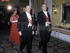 Oslo 19780420. Den østerrikske presidenten Rudolf Kirchschläger på offisielt besøk i Norge.