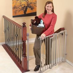Baby Safety Gate For Top Of Stairs Kitchen Hallways Doors Dogs Closure Pet  Train