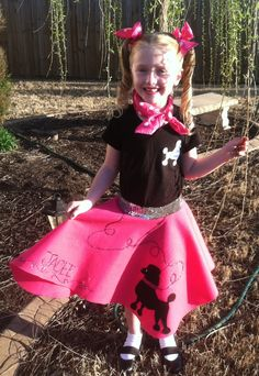 No Sew Poodle Skirt Tutorial