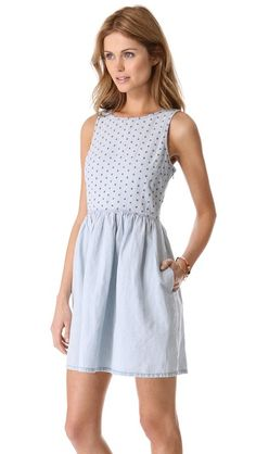$115.00 Chambray eyelet dress | Madewell