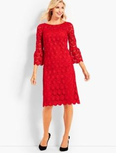 Shop Talbots for modern classic women's styles. You'll be a standout in our Flounce-Sleeve Dot Lace Dress - only at Talbots! Jeans For Sale, Clothes For Sale, Clothes For Women, Classic Style Women, Fit Flare Dress, Talbots, Lace Dress, Cold Shoulder Dress, Velvet