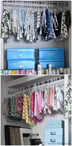 Honey We're Home: Fabric Organization