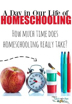 A Day in our Life of Homeschooling.  Have you ever wondered what a day in our homeschool looked like? Today I am going to give you an inside peek at what our typical day looks like, and how we homeschool in less time than you would think. Do you wonder if homeschooling takes a lot of time? I am hoping to answer some of those questions for you today- I have a Future and a Hope