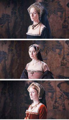 Six Wives with Lucy Worsley - Katherine of Aragon,Anne Boleyn and Jane Seymour- Tudor era ladies Dinastia Tudor, Tudor Style, Anne Of Cleves, Anne Boleyn, Tudor Fashion, Royal Fashion, Historical Costume, Historical Clothing, Historical Photos