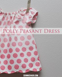 The scallops on this polka dot Polly Peasant Dress add the perfect amount of detail to a simple design!
