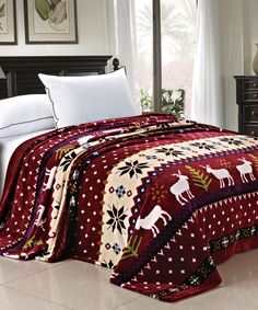 #BURGANDY #CHRISTMAS #BLANKET